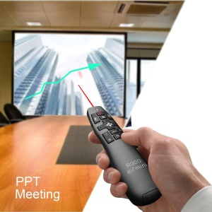 RII R900 RT-MWK14 2.4GHz Mini Wireless Air Mouse Presenter with Red Laser Pointer