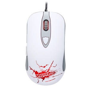 MOTOSPEED V16 Wired USB Gaming Mouse with LED Backlit - White