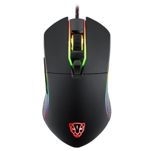 MOTOSPEED V30 Wired RGB LED Optical USB Gaming Mouse PMW 3320 IC - Black