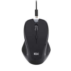 MODAO E08 Rechargeable Bluetooth V3.0 6-button Wireless Mouse - Black