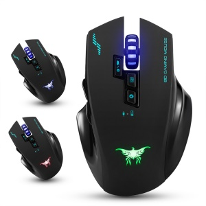 COMBATERWING W100 Rechargeable 2.4G Wireless Gaming Mouse with 4 Adjustable DPI Levels - Black