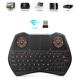 RII Mini I28 2.4GHz Wireless Keyboard with Mouse Touchpad and Backlit (CE/FCC) - Black