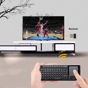 RII Mini V3 2.4GHz Wireless Keyboard Touchpad Air Mouse with Backlit and Laser Pointer (Russian Layout)