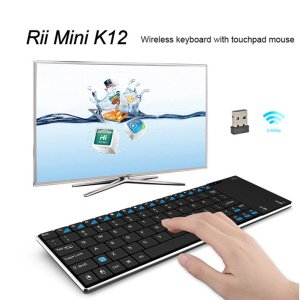 RII Mini K12 2.4GHz Wireless QWERTY Keyboard with Mouse Touchpad (CE/FCC)