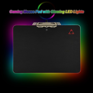 OVANN Creative LED Lighting Gaming Mouse Pad USB Wired Computer Notebook Mice Mat - Black