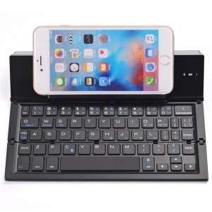 GEYES GK608 Foldable Wireless Bluetooth Keyboard with Stand, Support Windows, Android, iOS - Black