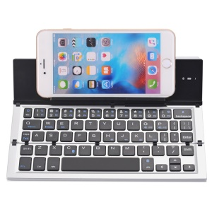 GEYES GK608 Aluminum Alloy Ultra-thin Wireless Bluetooth Keyboard, Support Windows, Android, iOS - Silver