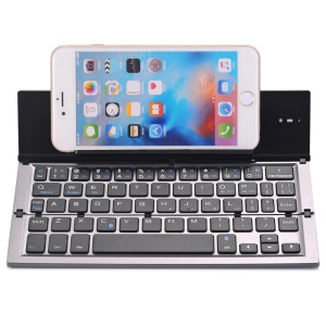 GEYES GK608 Portable Folding Smart Bluetooth Wireless Keyboard with Auto Sleep Function - Grey