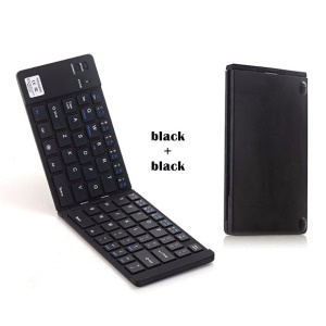 GEYES GK228 Foldable Bluetooth Keyboard for Smartphones /iPad/Tablets/Pcs - Black