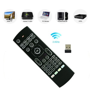 MX3-L Backlit 2.4GHz Fly Air Mouse Wireless QUERTY Keyboard Remote Controller for TV XBMC MX3