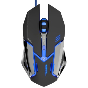 E-3LUE EMS639 LED Light 6 Buttons 4000DPI USB Wired Gaming Mouse - Black