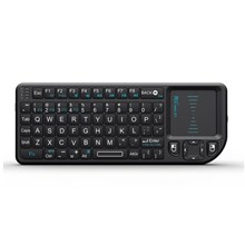 RII Mini X1 2.4GHz Wireless Keyboard with Mouse Touchpad and Remote Control - Black