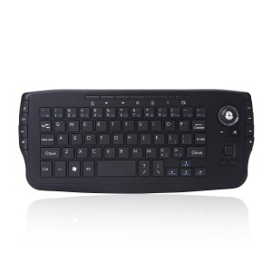 2.4G Wireless Mini Multi-media Keyboard with Trackball Air Mouse