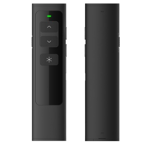 DOOSL DSIT013 Presenter 2.4GHz Laser Wireless Rechargeable Supports PowerPoint, Keynote and Prezi Page - Black
