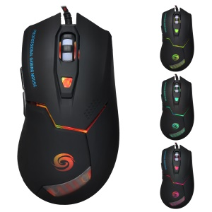 K1020 6-Key Wired Optical Gaming Mouse with Colorful Light