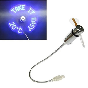 Gooseneck USB Powered LED Temperature Display Cooling Fan