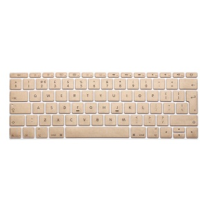 ENKAY Translucent Silicone EU Version Keyboard Cover Skin for MacBook 12-inch with Retina Display(2015) - Champagne