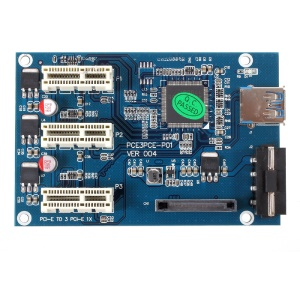 PCI-E to PCI-E 1 to 3 Ports Switch Multiplier HUB Riser PCI-E Expansion Kit