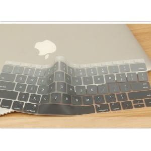 Gradient Color Soft Keyboard Protection Film for Apple MacBook 12-inch with Retina Display 2015 (US Version) - Grey