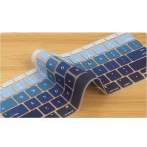 Gradient Color Soft Keyboard Guard Membrane for Apple MacBook 12-inch with Retina Display 2015 (US Version) - Blue