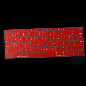 Soft Silicone Keyboard Protection Cover for Apple MacBook 12-inch (A1534) US Version (English) - Red