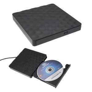 Dots Design DVD-RW Pop-up Unidad óptica Externa [con Cable De Puerto USB 3.0] Para Notebook / Ordenador Personal / Macbook