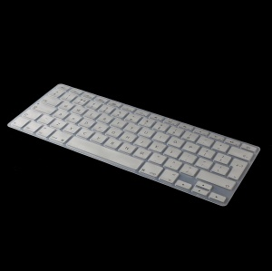 Anti-dust Silicone Keyboard Protection Cover for MacBook Pro Retina 15 inch A1398 EU Version (English) - Silver