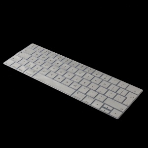 Dust-proof Silicone Keyboard Cover for MacBook Pro 15 inch A1990 / A1707 with Touch Bar [EU Version] [English] - Silver