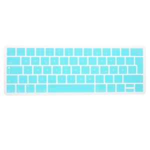 Silicone Keyboard Protector Touch Bar for MacBook Pro Retina 15-inch (A1990/A1707) EU (German) - Sky Blue