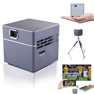 S6 Mini Cube Shape Smart DLP Projector with WiFi HDMI Support Android and iOS - US Plug