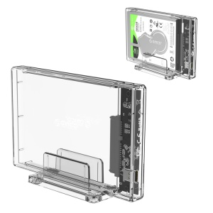 ORICO 2159C3 Transparent Series 2.5 inch 10Gbps Hard Drive Enclosure with Stand for 2.5inch HDD