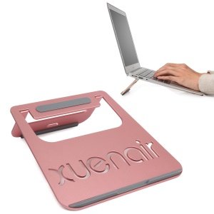 XUENAIR Aluminum Alloy Laptop Stand for MacBook Heat Dissipation - Rose Gold Color