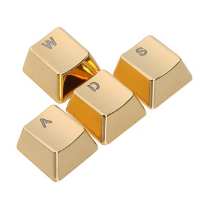 SINCETOP Plating Zinc Alloy Sensitive 4 Key Caps for Mechanical Keyboard - WASD / Gold