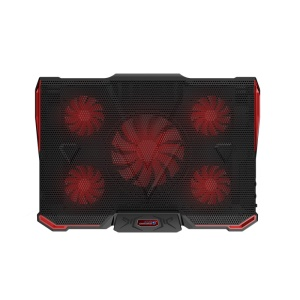 COOLCOLD Icemagic 4 Series Laptop Cooling Pad with 5 Fans  - Black / Red