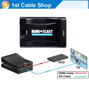 HDMI To SCART Adapter 1080p Video Audio Converter Scaler Smartphone STB DVD Video Audio HDMI Converter