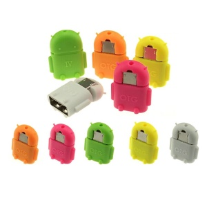 Android Shape OTG Adapter Micro USB OTG to USB Adapter for Smartphones & Tablets