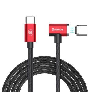 BASEUS Type-C Magnet Charging Cable (Side Insert) 1.5M - Red