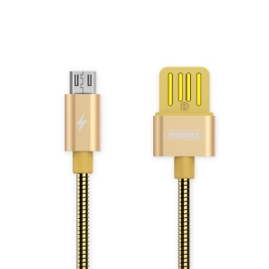 REMAX Micro USB Charging & Fast Data Transfer Cable - Gold Color