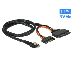 U.2 U2 SFF-8639 to Slim SAS SFF-8654 4i NVME PCIe SSD Cable for Mainboard Intel SSD 750 p3600 p3700 M.2
