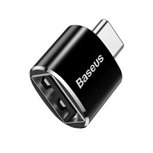 BASEUS Mini USB Female to Type-c Male Adapter Converter - Black