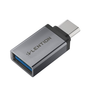 LENTION C3 Type C to USB 3.0 Converter Adapter - Grey