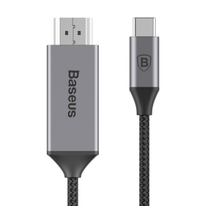 BASEUS NP021180R01BS Nylon Braided 1.8M Type-C Male to HDMI Male 4K Cable Adapter