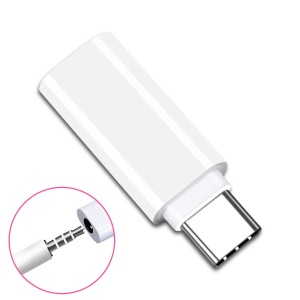 CY UC-075 Type-C to 3.5mm Earphone Adapter USB-C 3.1 Male to AUX Audio Female for Xiaomi 6 Mi6 Letv 2 Pro 2 Max2 - White