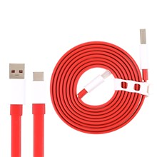 ONEPLUS 1m Dash Charge Type-C Flat Cable 4A USB Fast Charge Data Cable for OnePlus 6/5/5T/3/3T