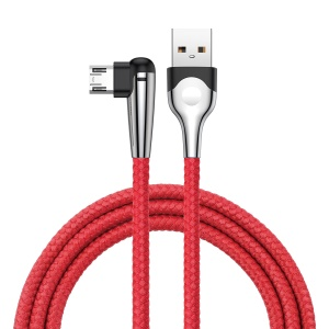 BASEUS MVP Elbow 2M 1.5A Reversible Micro USB Charging Data Cable for Samsung Sony Huawei etc. - Red