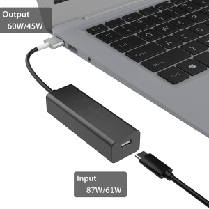 USB-C Type-C to 60W Magsafe 2 T-Head Charging Converter Adapter Support 87W/61W Power Adapter