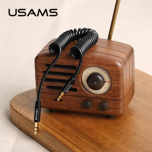 USAMS US-SJ256 Cavo Aux Audio Da 3,5 Mm Maschio A 3,5 Mm - Nero