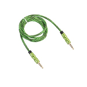 1M Male to Male Auxiliary 3.5mm Audio Cable - Green