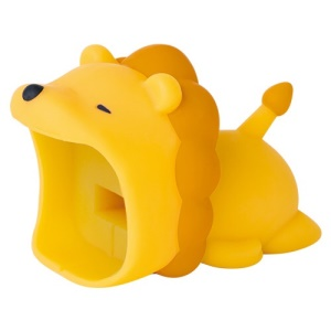 Cartoon Animal Pattern Charging Cable Protector PVC Saver - Lion
