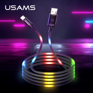 USAMS US-SJ287 2A Voice-activated Type-C Charging Data Sync Cord 1m - Black